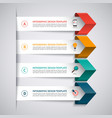 Infographic template with 4 options vector image vector image