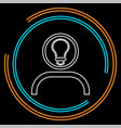 innovation idea icon flat innovation vector image