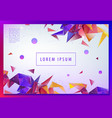 landing page concept geometric abstract vector image vector image