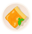 lemon cake icon cartoon style vector image vector image
