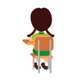 little student in school chair vector image