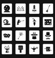 magic icons set squares vector image vector image