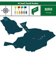 map of al jawf saudi arabia vector image vector image