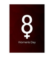 march 8 international women day paper cutout vector image vector image