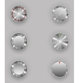 Metal buttons vector image vector image