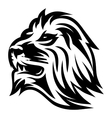 monochrome pattern with lions head for a logo or vector image vector image