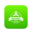 motor machinery icon green vector image vector image