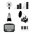 Music players and components vol 3 black and white vector image