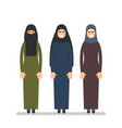 muslim woman or arab woman in hijab women stand vector image