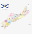 nova scotia administrative and political map with vector image vector image