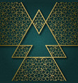 ornamental background with triangular frame vector image vector image