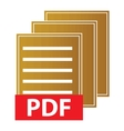 Pdf download icon vector image vector image