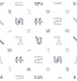 pipe icons pattern seamless white background vector image vector image