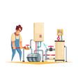 plumber cartoon composition vector image