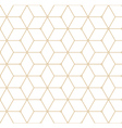 Retro Pattern with Golden Squares vector image
