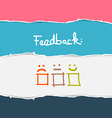 Retro Torn Paper Feedback Background vector image vector image
