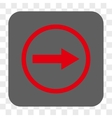 Right Rounded Arrow Rounded Square Button vector image