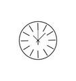 round wall clock line icon clock icon premium vector image