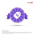 sale tag icon - purple ribbon banner vector image
