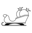 santa claus sleigh with bag christmas related icon vector image vector image