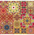Seamless patchwork tile with Victorian vector image