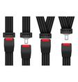 set locked unlocked detailed seatbelts vector image vector image