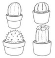 set of cactus vector image vector image