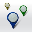 Set of markers for maps or places vector image