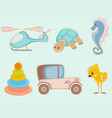 six toys set vector image