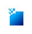 square geometric logo vector image vector image