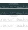 tel aviv single line skyline banner vector image vector image