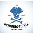 The Grinning Pirate Sailing Crew Abstract vector image vector image