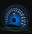 the speedometer of the car vector image vector image