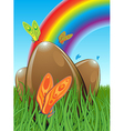 Three chocolate easter eggs vector image vector image