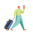 tourist travel character flat isolated vector image