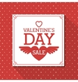 valentines day sale design vector image