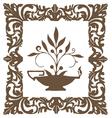 vintage printborders frames brown flower vector image vector image