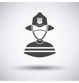 Fireman icon vector image