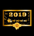 2019 happy new year and christmas background with