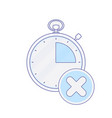 alarm clock hour minute time timer x icon vector image