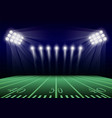 american football field concept background vector image