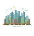 autumn city concept urban landscape vector image vector image