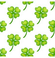 background irish clover vector image vector image