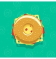 bagel sandwich isolated vector image vector image