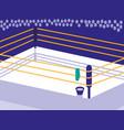 boxing ring scene icon vector image