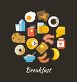 breakfast concept fresh and healthy food vector image vector image