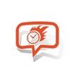 Burning clock message sticker orange vector image vector image