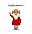 christmas card template smiling cartoon happy vector image vector image