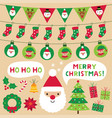 christmas decoration and design elements set vector image vector image