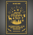 Christmas party happy new year poster vector image vector image